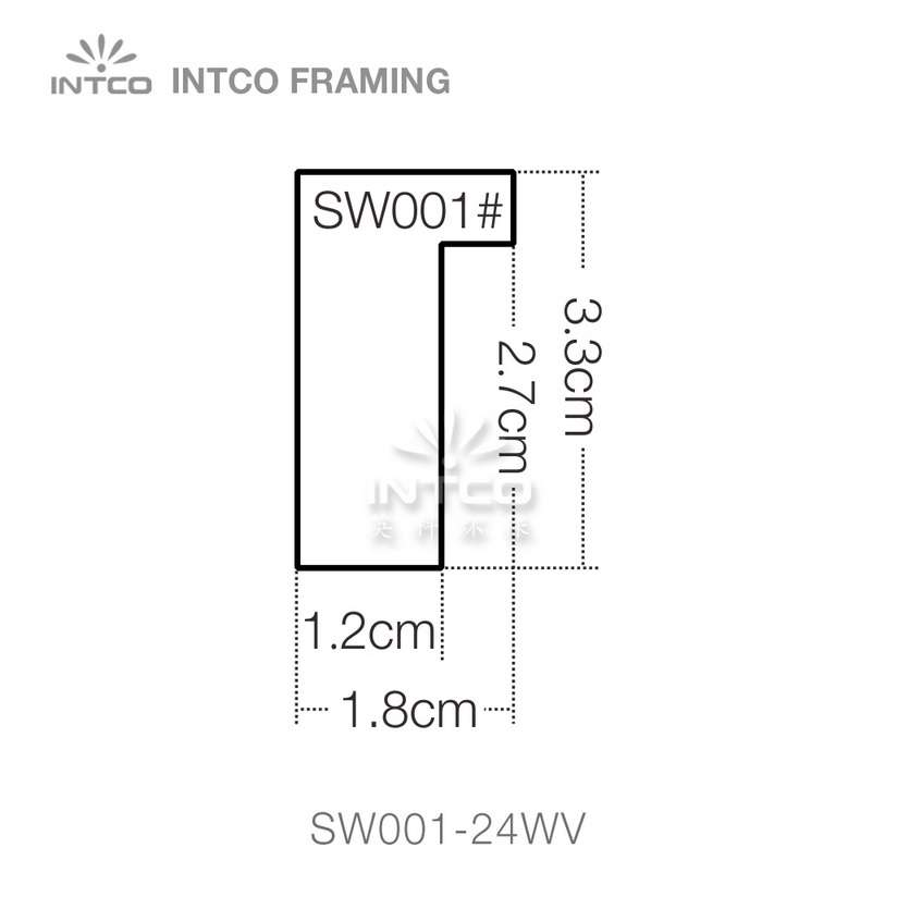SW001 series wood picture frame moulding profile