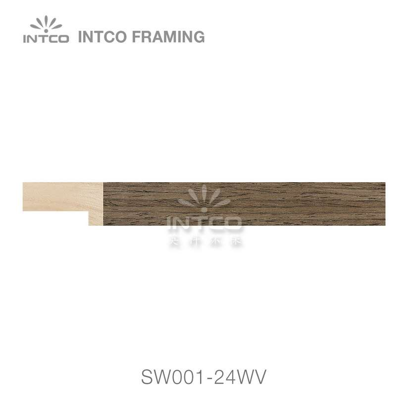 SW001-24WV wood picture frame moulding swatch sample