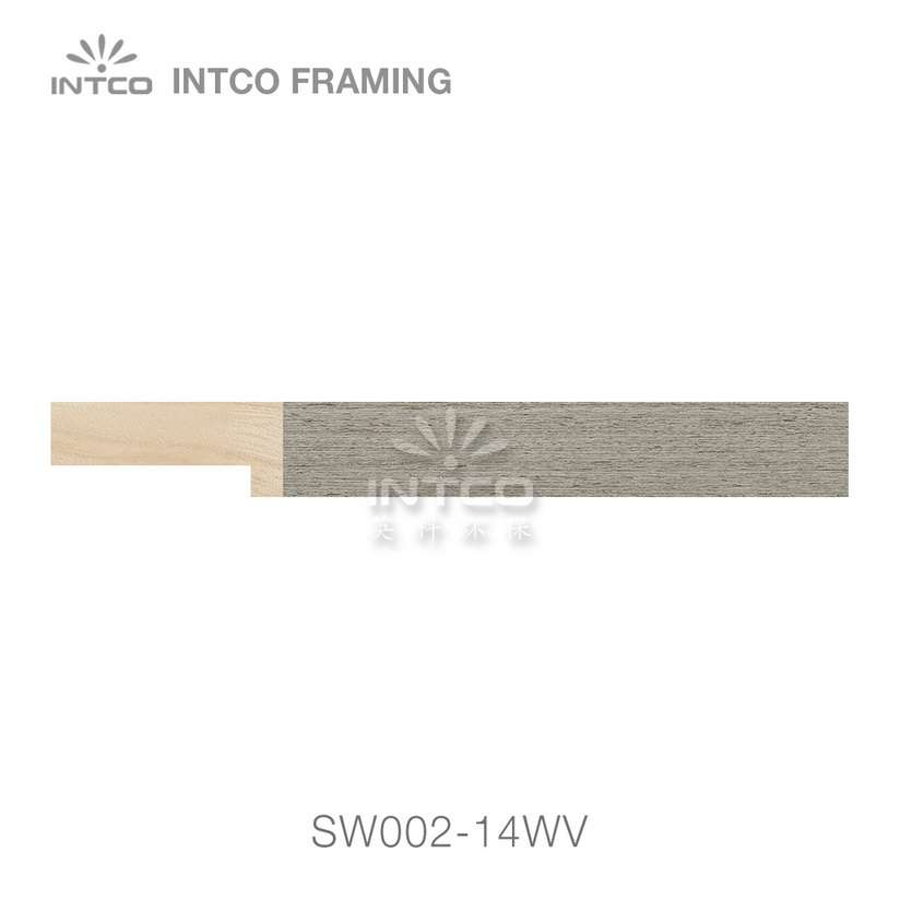 SW002-14WV wood picture frame moulding swatch sample