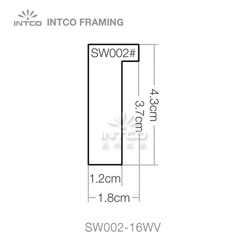 SW002 series wood picture frame moulding profile