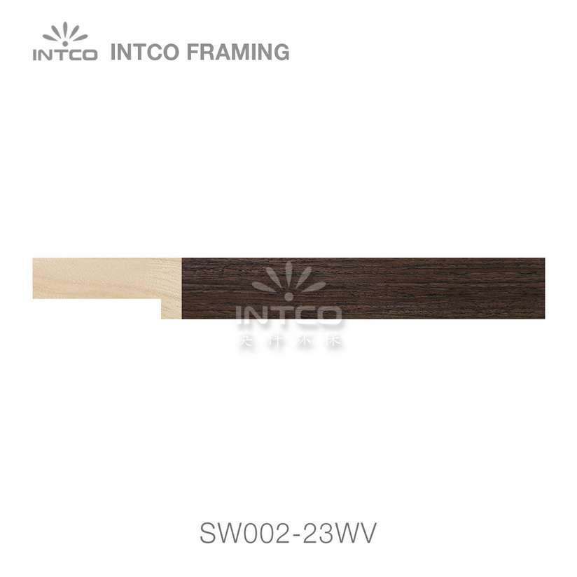 SW002-23WV wood picture frame moulding swatch sample