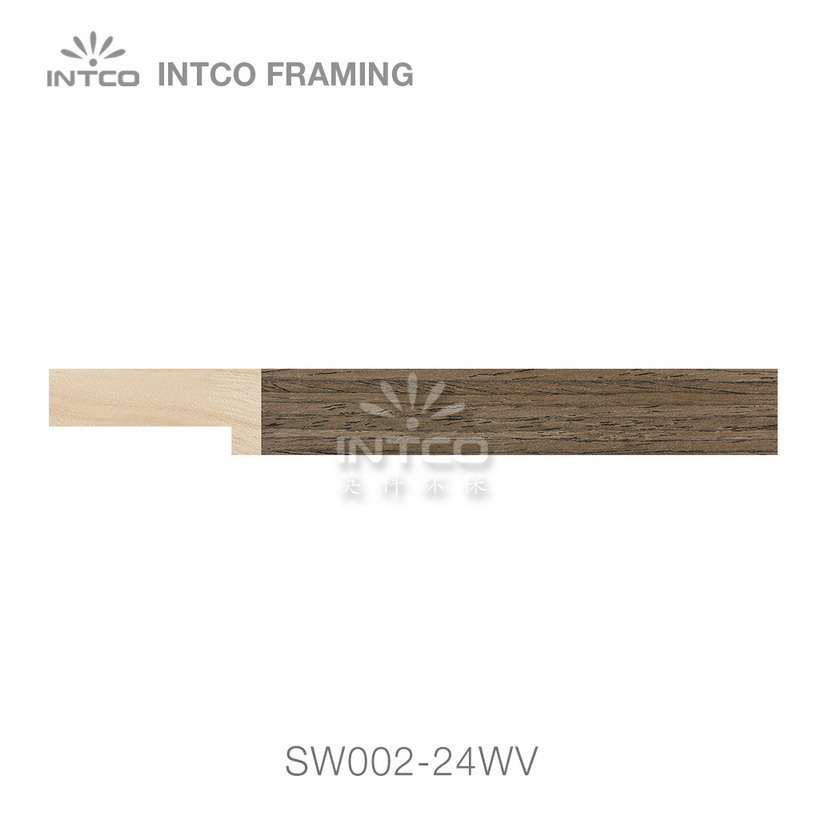 SW002-24WV wood picture frame moulding swatch sample