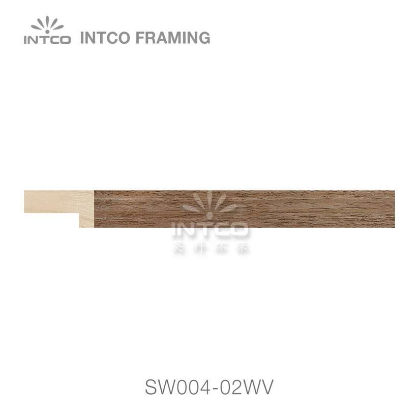 SW004-02WV wood picture frame moulding swatch sample