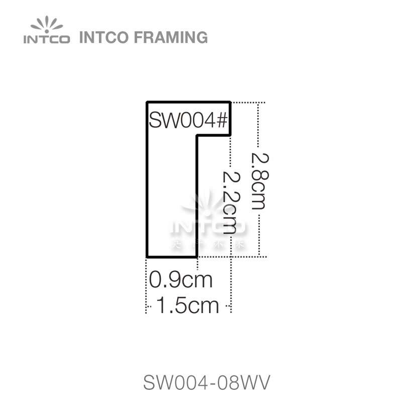 SW004 series wood picture frame moulding profile