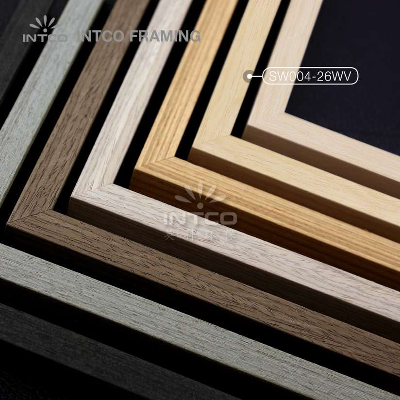 SW004 series wood picture frame mouldings