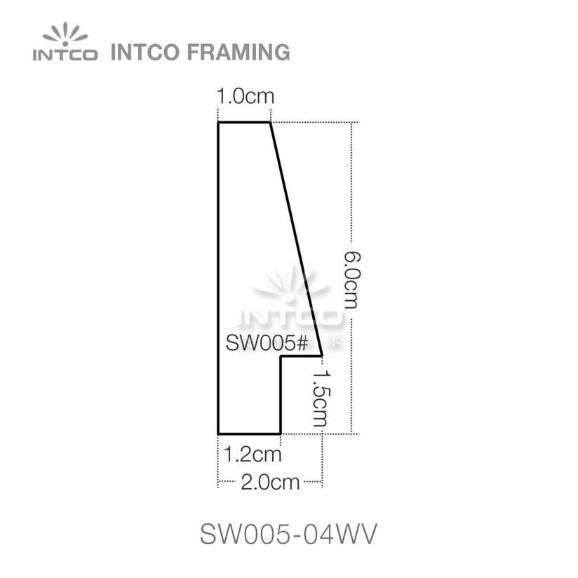 SW005 series wood picture frame moulding profile