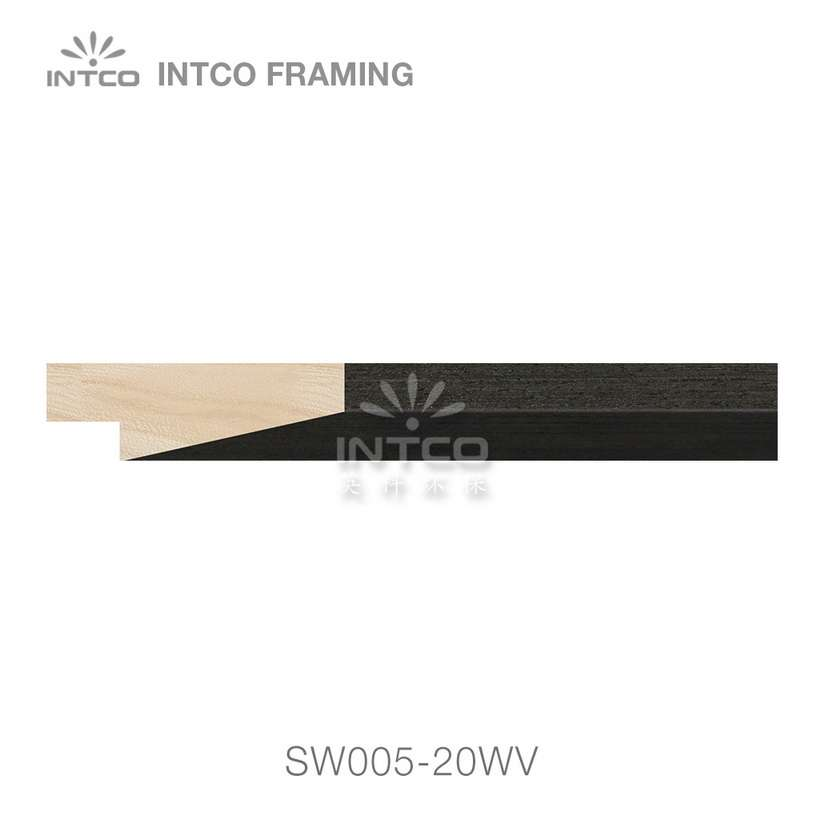 SW005-20WV wood picture frame moulding swatch sample