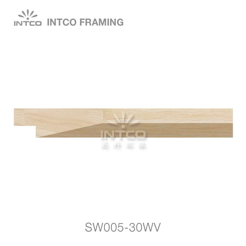 SW005-30WV wood picture frame moulding swatch sample