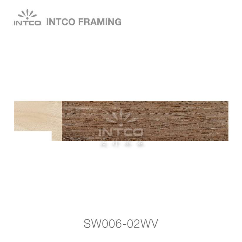 SW006-02WV wood picture frame moulding swatch sample