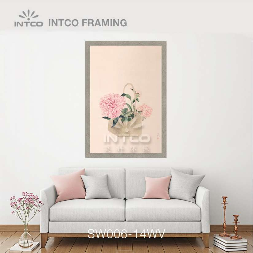 SW006-14WV wood picture frame moulding design ideas for wall