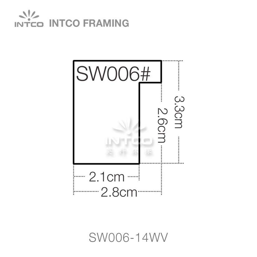 SW006 series wood picture frame moulding profile