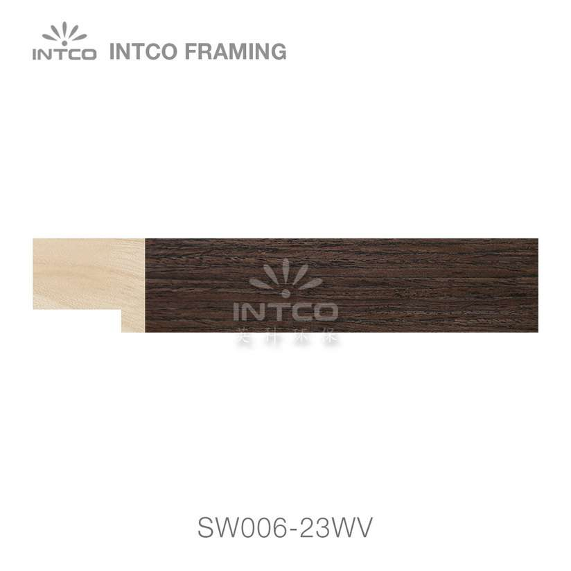SW006-23WV wood picture frame moulding swatch sample