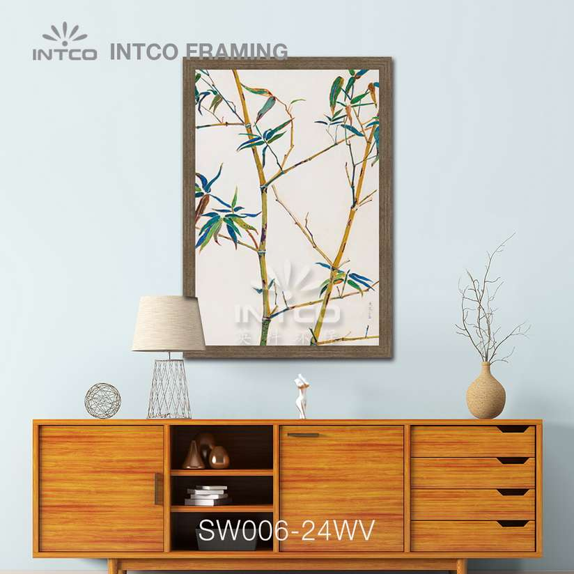 SW006-24WV wood picture frame moulding design ideas for wall
