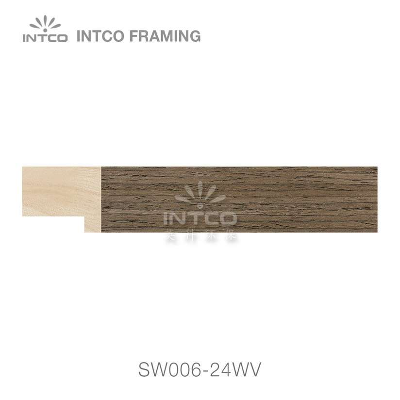 SW006-24WV wood picture frame moulding swatch sample
