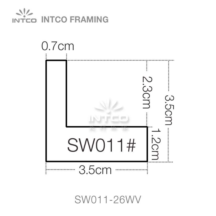 SW011 series wood picture frame moulding profile