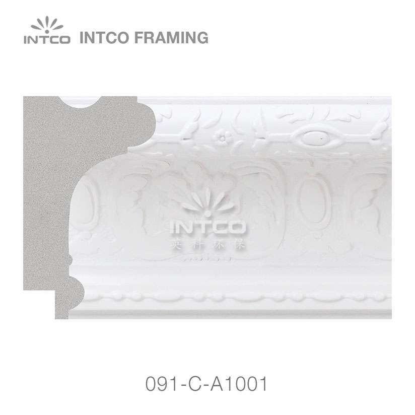 091-C-A1001 PS unfinished picture frame moulding