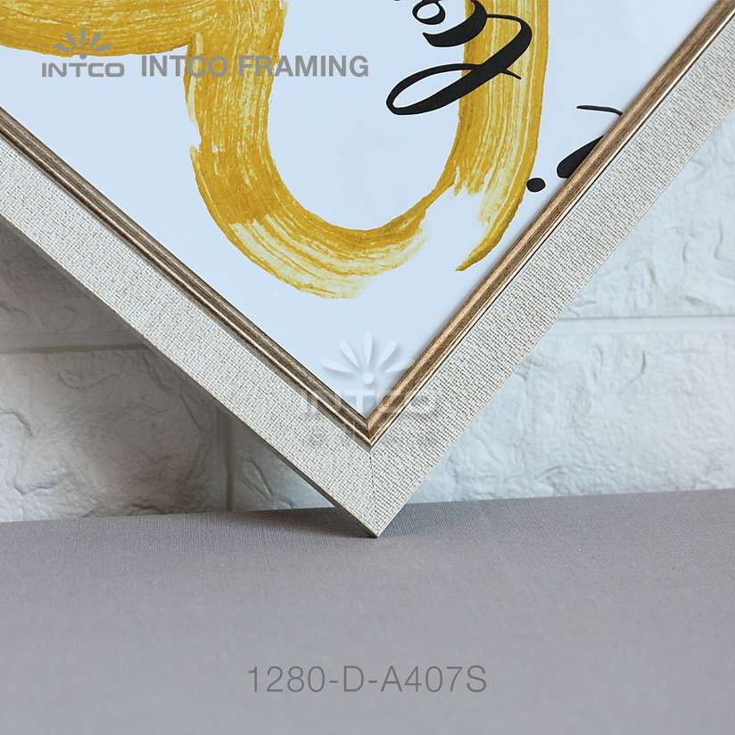 INTCO 1280-D-A407S silver art frame moulding