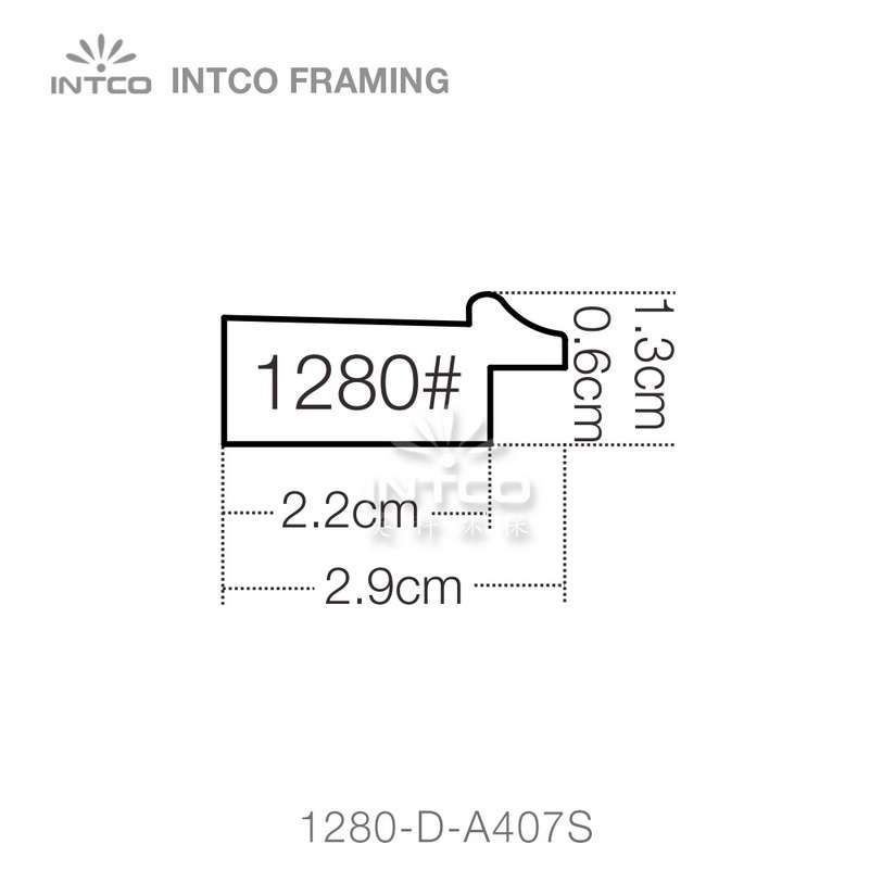 INTCO 1280 series PS art picture frame profile
