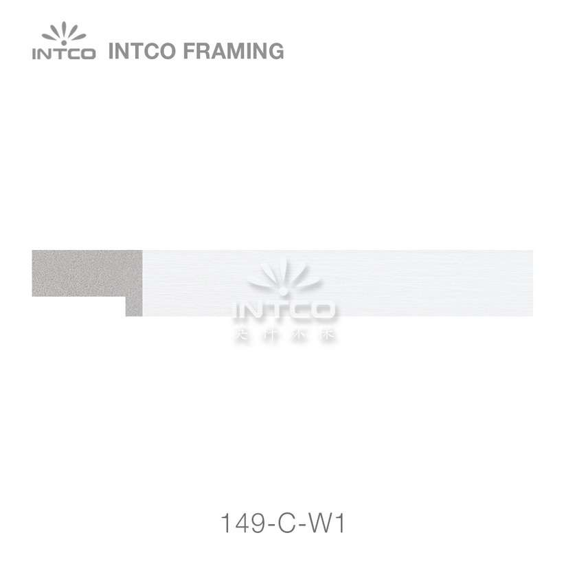 149-C-W1 unfinished PS plastic picture frame moulding