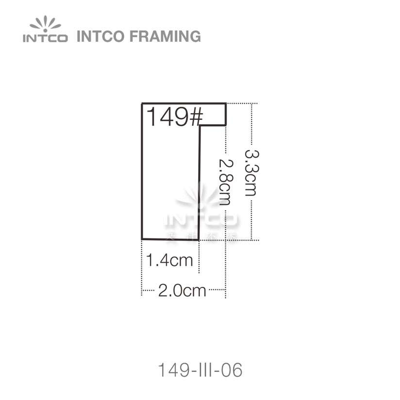 149-III-06 PS Picture Frame Moulding Profile