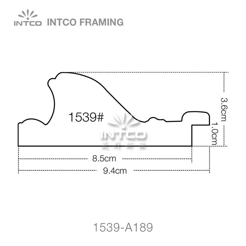 INTCO 1539 series PS art picture frame profile
