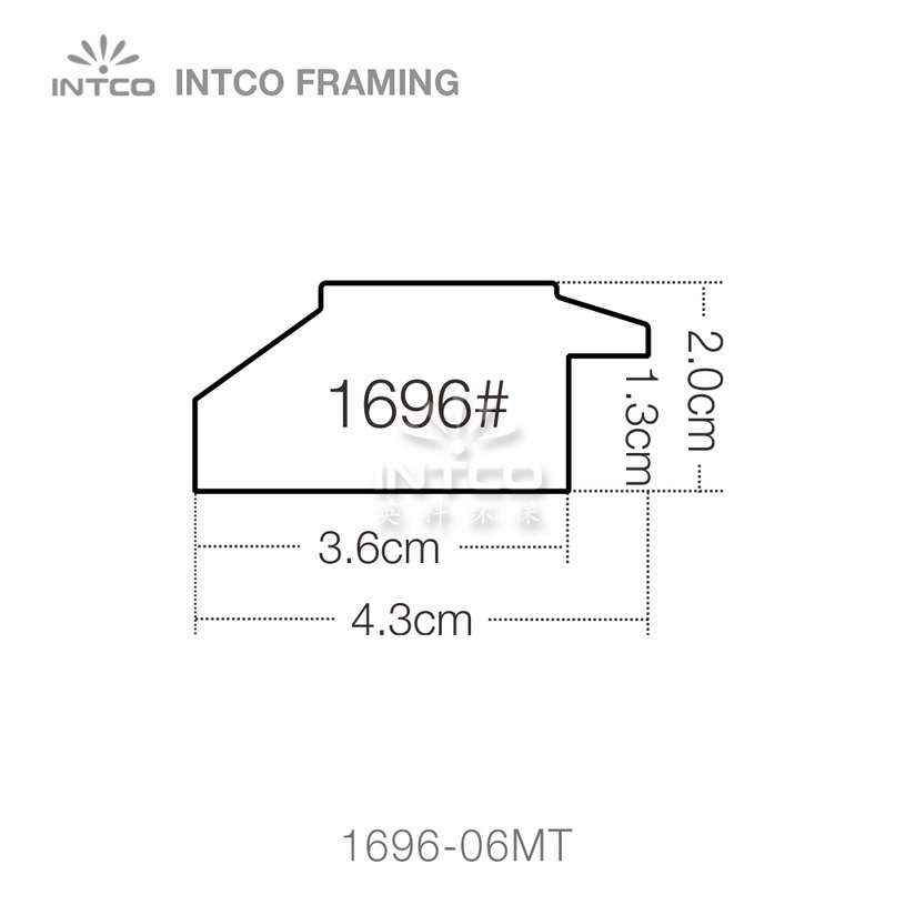 INTCO 1696 series PS wedding photo frame moulding profile