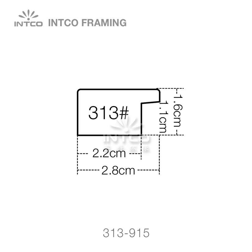 313 series PS picture frame moulding profile