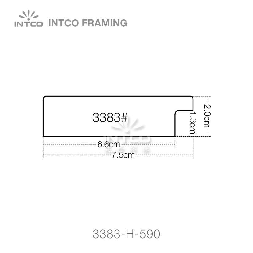 3383 series PS mirror frame moulding profiles