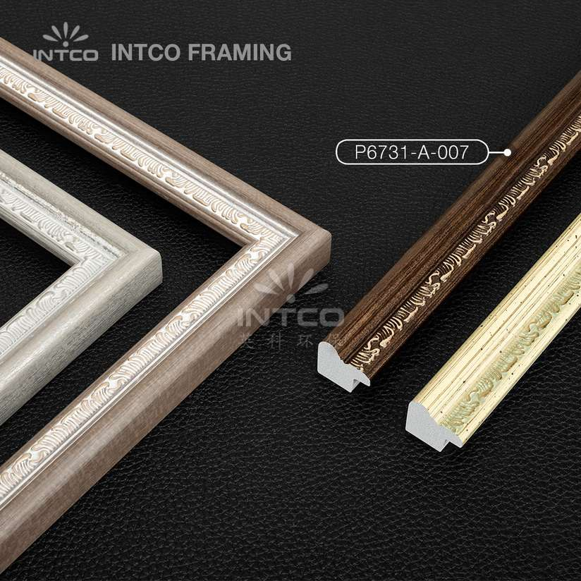 P6731 series PS patina photo frame mouldings