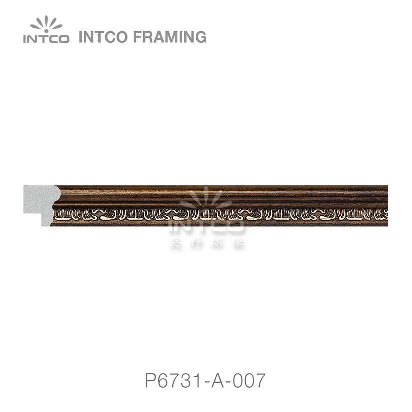 P6731-A-007 PS patina photo frame moulding swatch sample