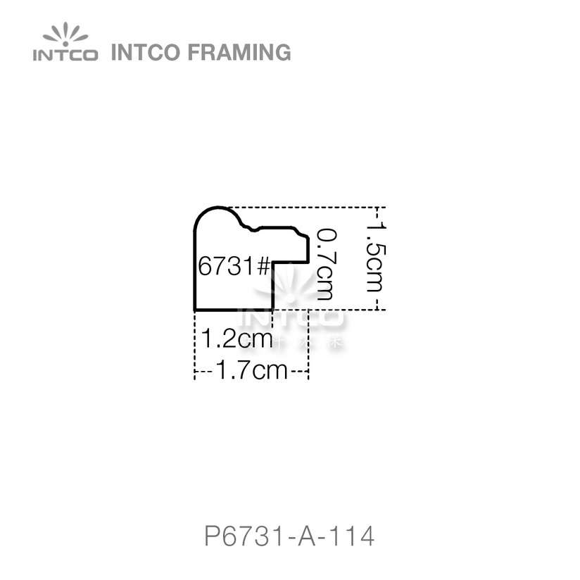 P6731 series PS patina photo frame moulding profile
