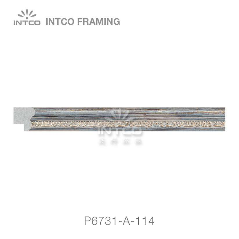 P6731-A-114 PS patina photo frame moulding swatch sample