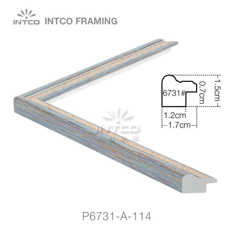 P6731-A-114 PS patina photo frame moulding drawing