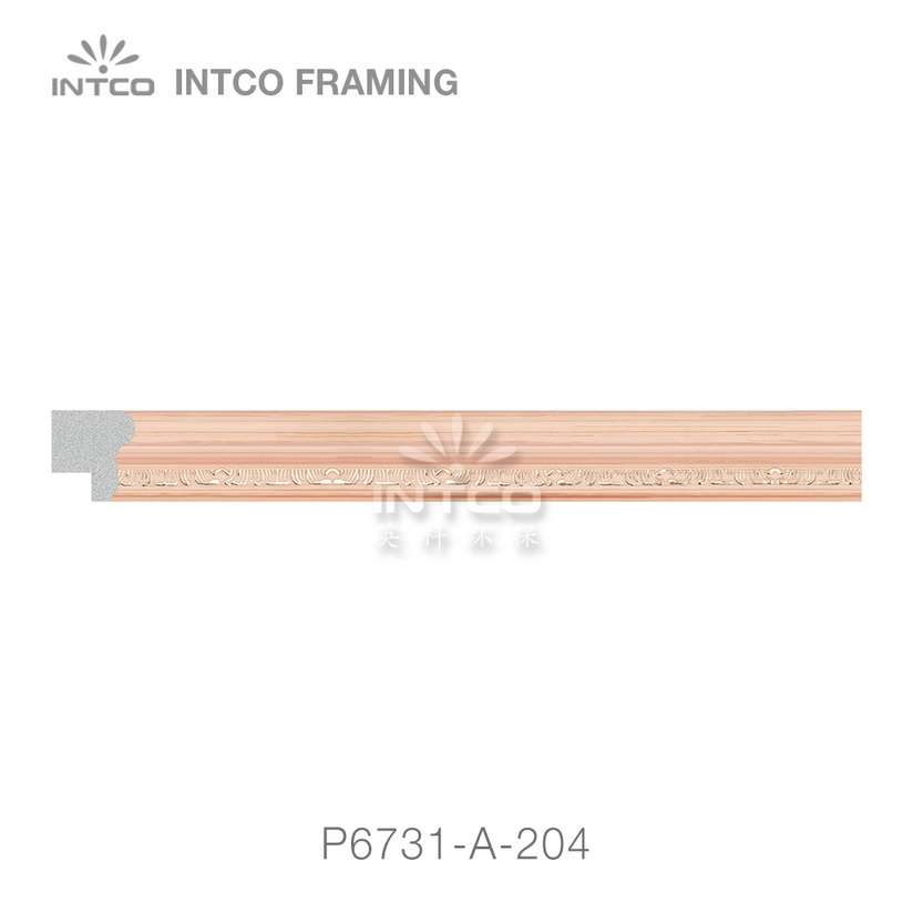 P6731-A-204 PS patina photo frame moulding swatch sample