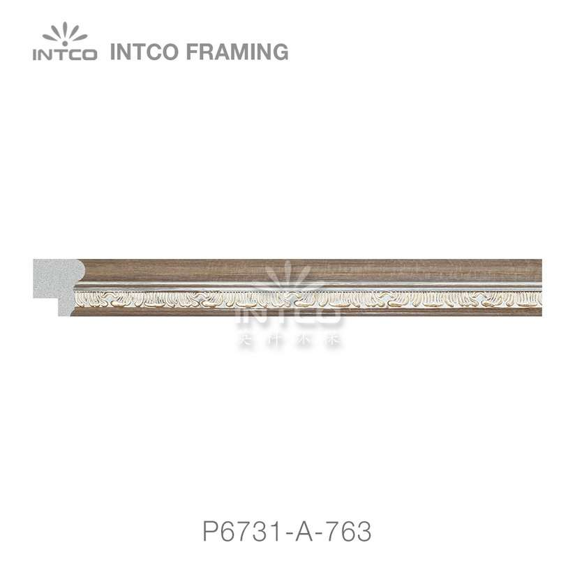 P6731-A-763 PS patina photo frame moulding swatch sample