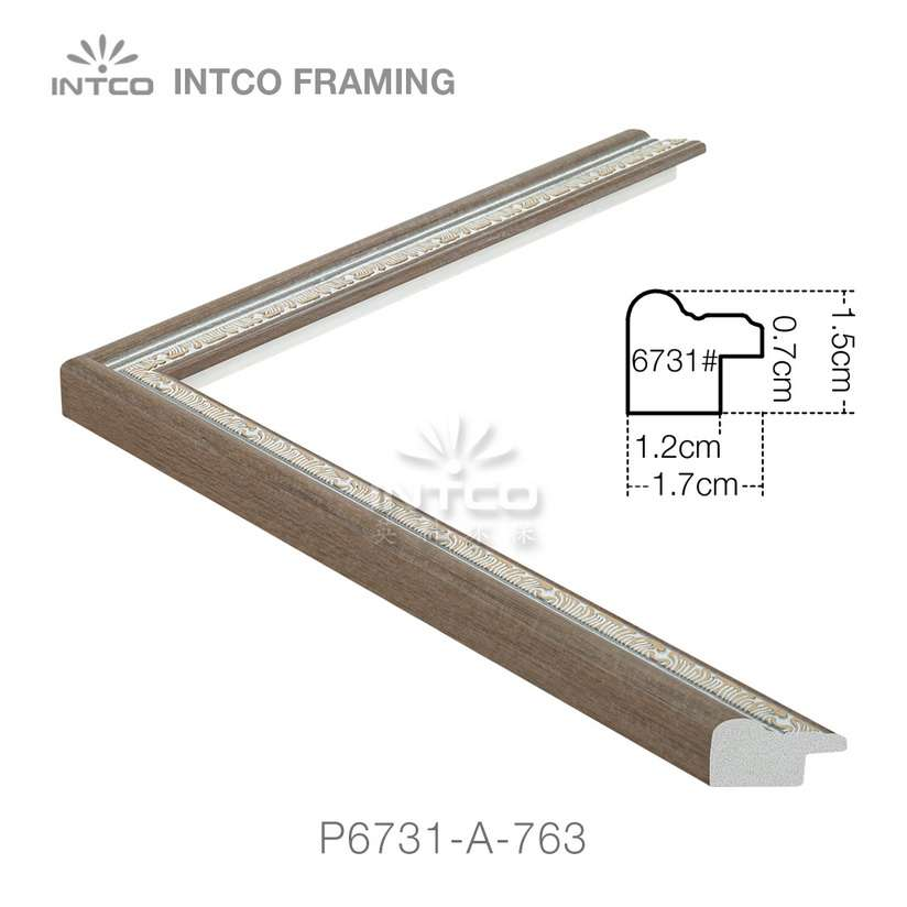 P6731-A-763 PS patina photo frame moulding drawing