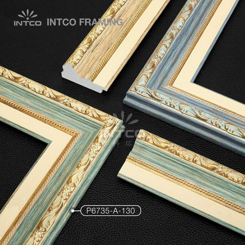 P6735 series PS patina picture frame mouldings