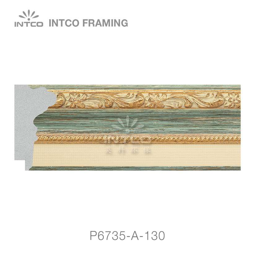 P6735-A-130 PS patina picture frame moulding swatch sample