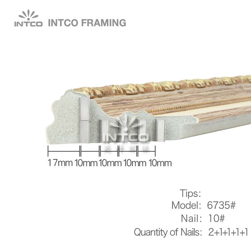 tips for nailing P6735 mouldings