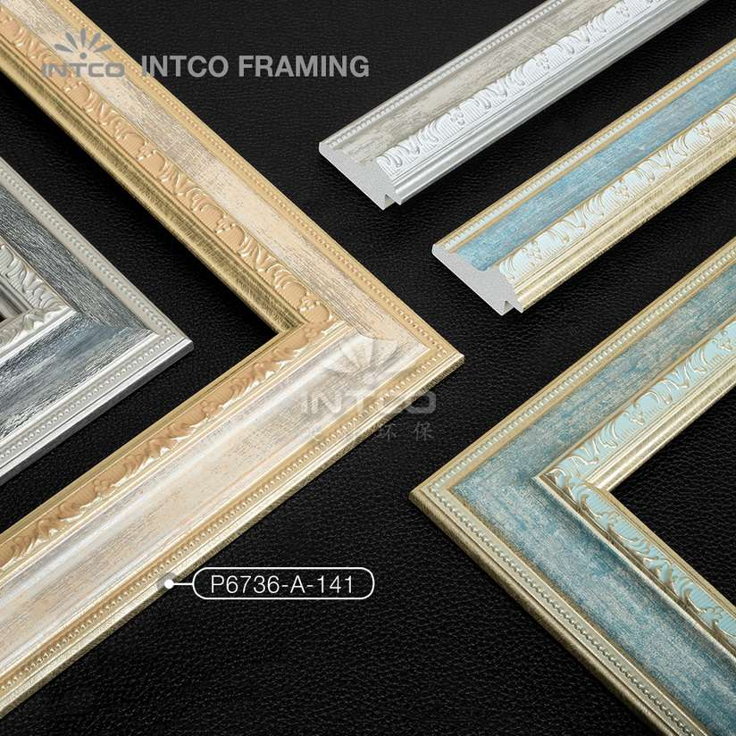 P6736 series PS patina picture frame mouldings