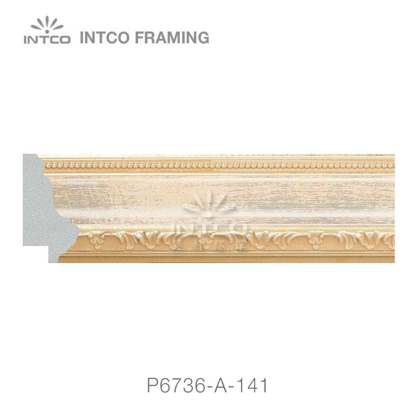 P6736-A-141 PS patina picture frame moulding swatch sample