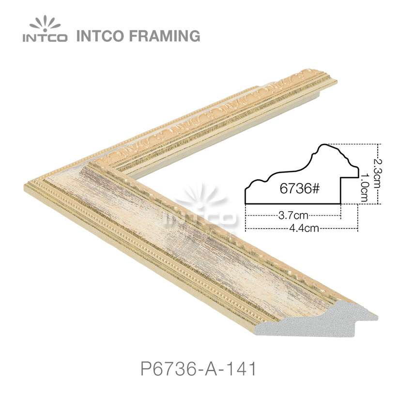 P6736-A-141 PS patina picture frame moulding drawing