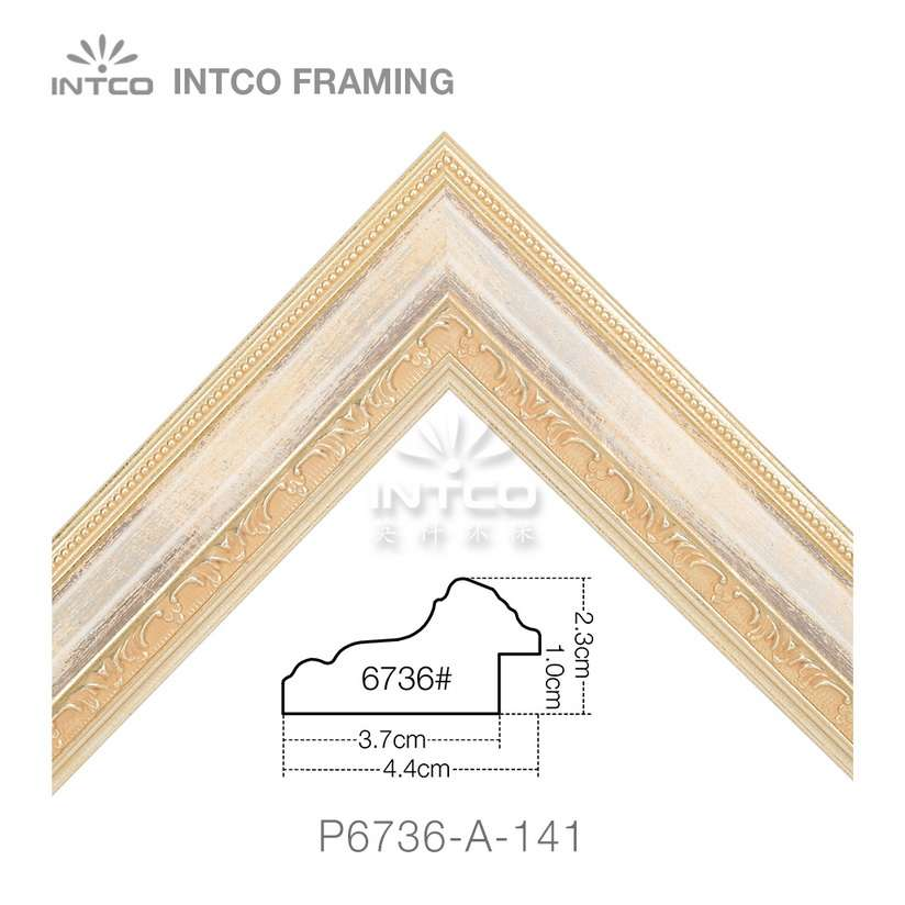 P6736-A-141 PS patina picture frame moulding corner sample