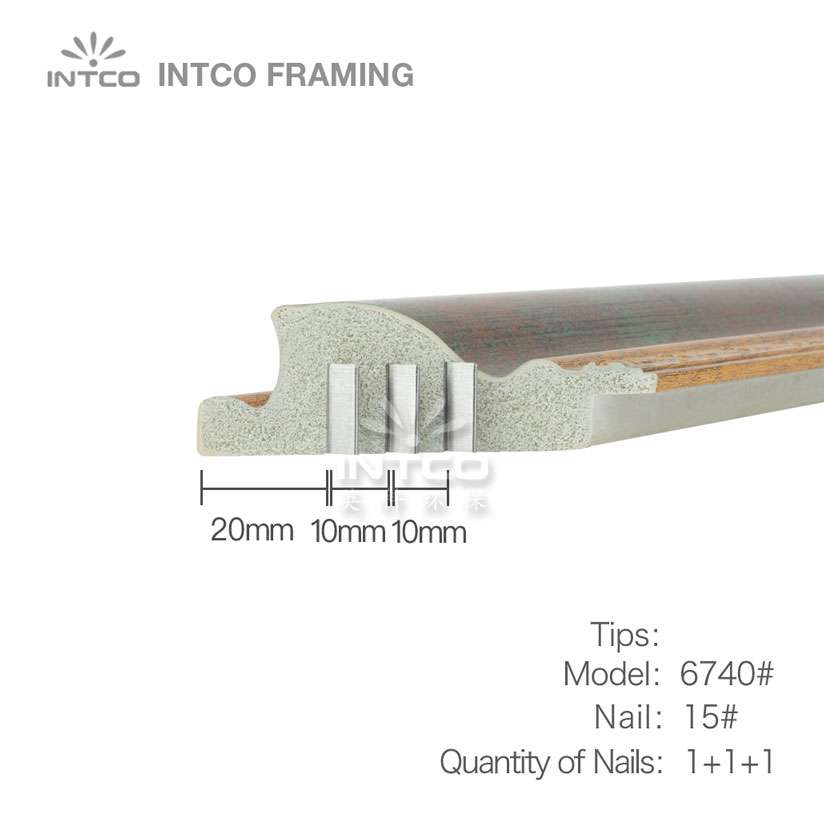 nailing tips for #P6740 picture frame moulding