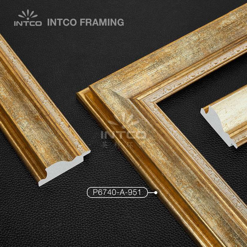#P6740 gold picture frame mouldings for sale