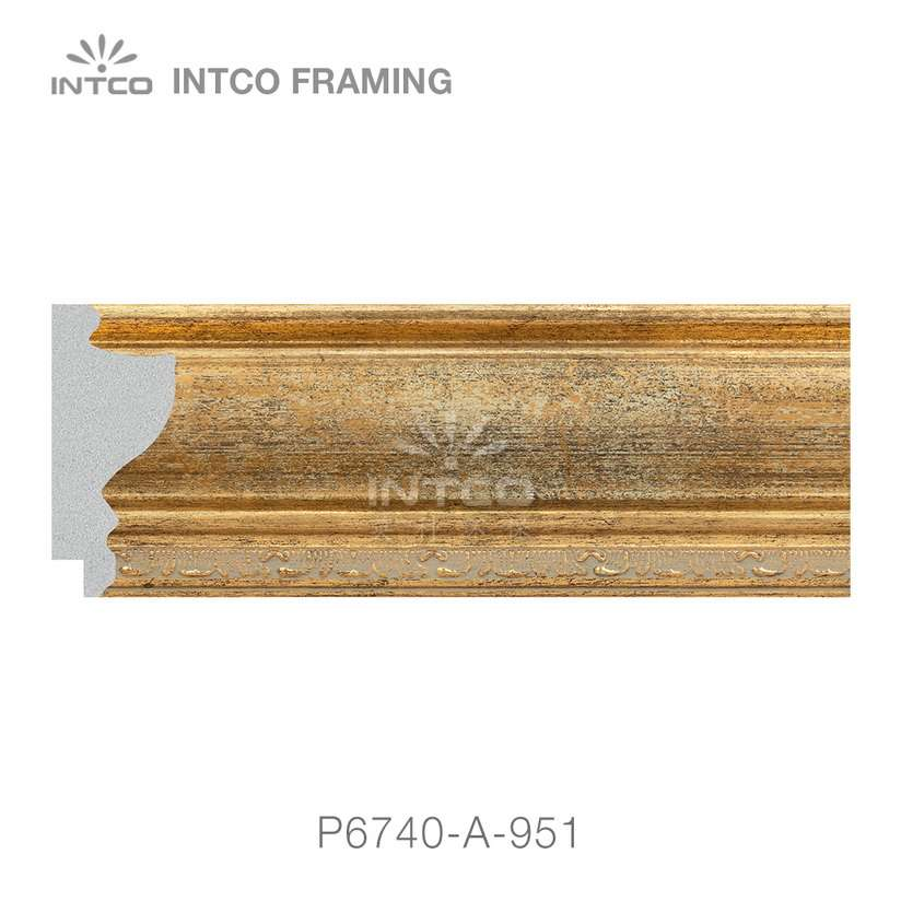 P6740-A-951 gold picture frame moulding by the foot