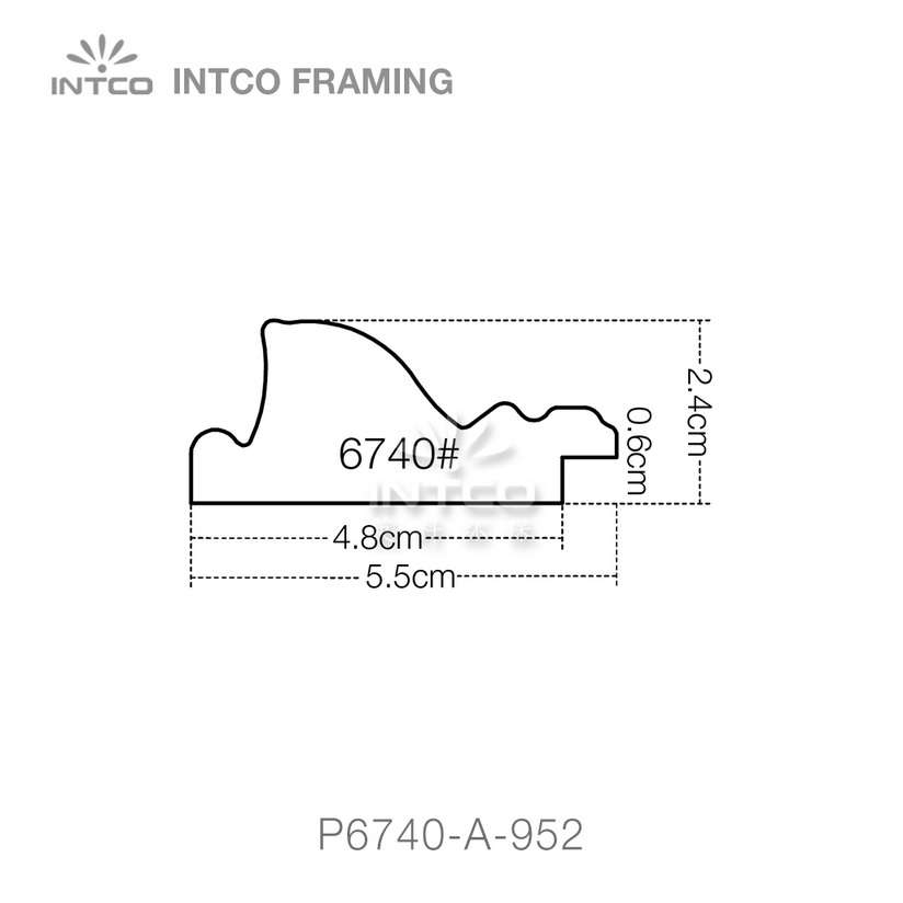 #P6740 2-3/16 inch picture frame moulding profiles