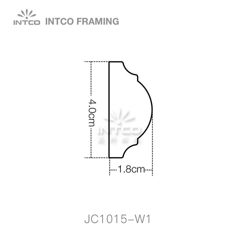 INTCO JC1015-W1 chair rail moulding profile