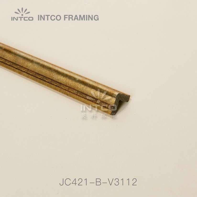 JC421-B-V3112 gold corner moulding wholesale
