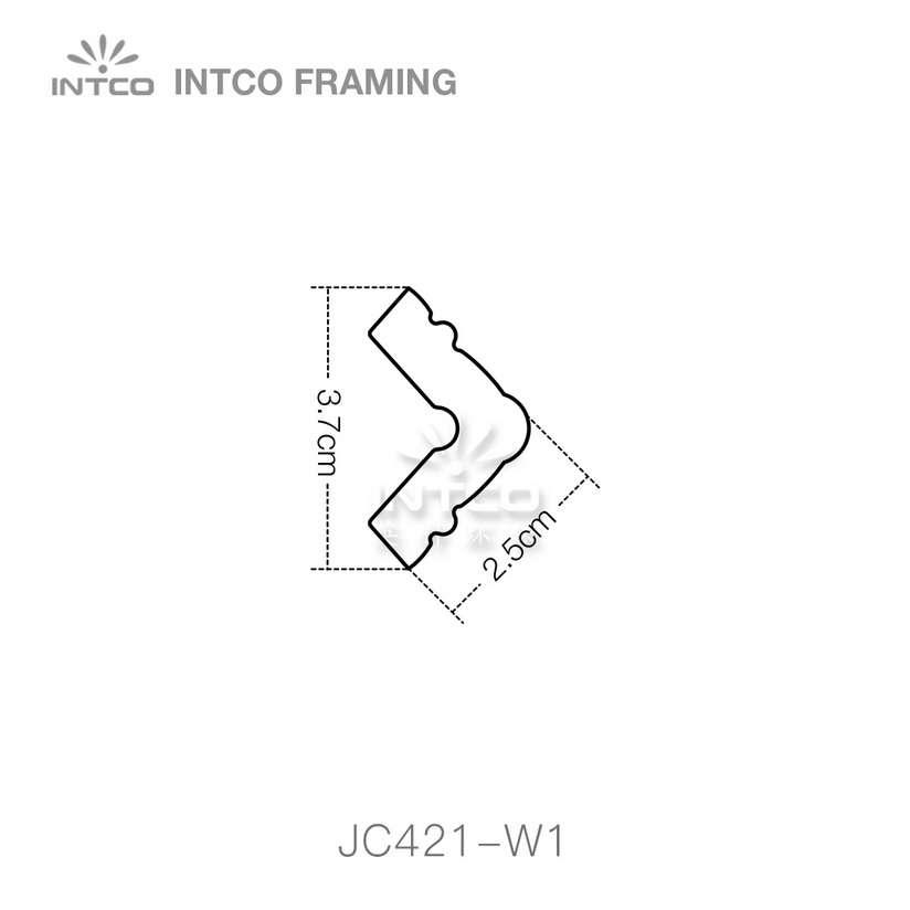 JC421-W1 corner moulding profile